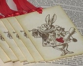 White Rabbit from Alice in Wonderland Gift Tags