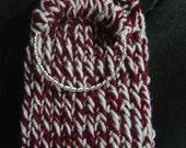 Aggie Maroon 'n Gray Bangle Bag Cozy -  OOAK handmade by an EtsyMom