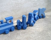 RESERVED for SaraF28- Custom hand painted name train