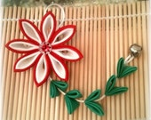 Scarlet Beauty Kanzashi Ornament /Phone/ Purse Charm
