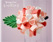Young Love Japanese Mini Hydrangea Kanzashi Ponytail Elastic