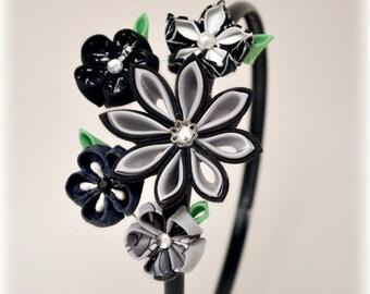 Moonlight Stroll Kanzashi Flower Headband