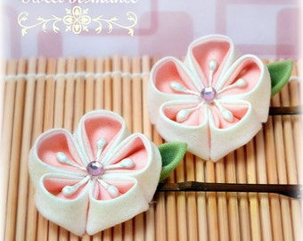 Sweet Romance Large Japanese Kanzashi Bobby Pins