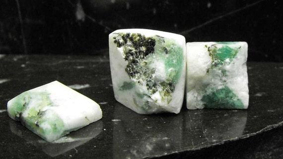RESERVED TAB Quartz Green Beryl Emerald Pyrite precious gemstone pendant cobbed focal beads drilled in matrix specimen set