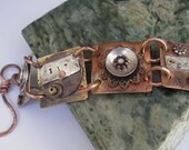 Eat, Pray, Love Copper and Bronze Bracelet