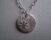 Flower Silver Pendant, Cornstalk Series