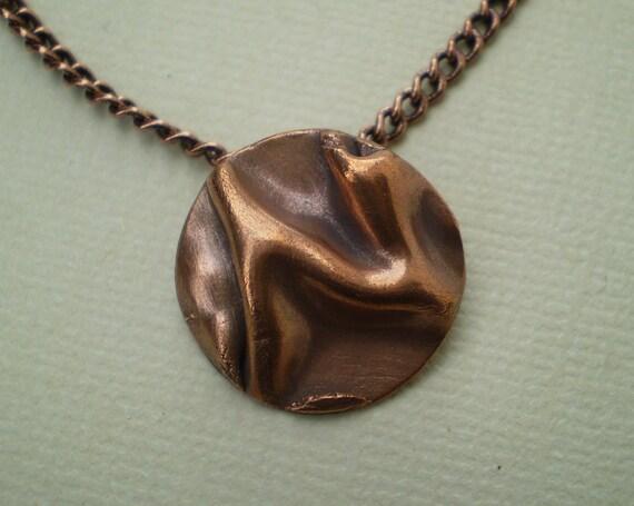 Folded Copper Pendant