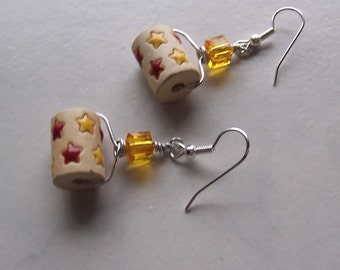 Stonewear Superstar Earrings-in Red and Yellow