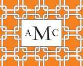 12x12 Custom Canvas- Choose a Pattern, Add Your Words, Name or Picture (Orange Square Links Pattern)