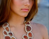 Sliced Agate Statement Necklace- Zion