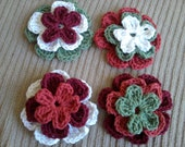 Stackable Flowers - Set of 4 Trios, Cotton - TFI