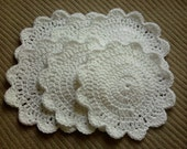 Floral Round Washcloths, 6 Pack  - Free Shipping - MTO -  Treasury Featured Item