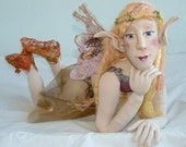 6 Part Soft Sculpture Art Doll Tutorial/ Study in Mixed Media:  NIAMH-Mediterranean Fairy of the Dead Sea