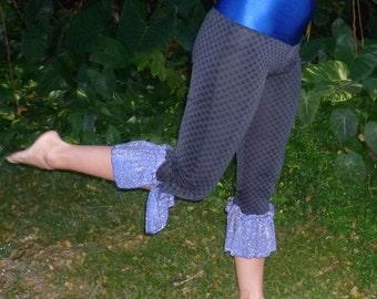 Violet Ruffle Pixie Pants