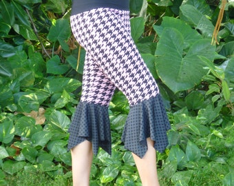 Pink/Black Houndstooth Pixie Pants