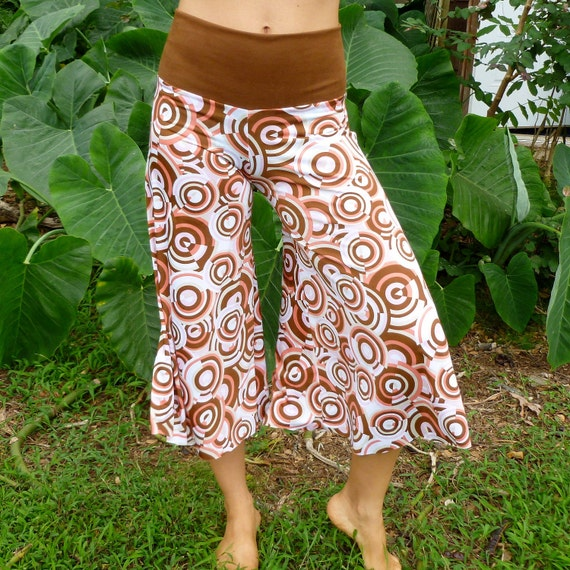 Brown & Pink Dial Pirouette Pants