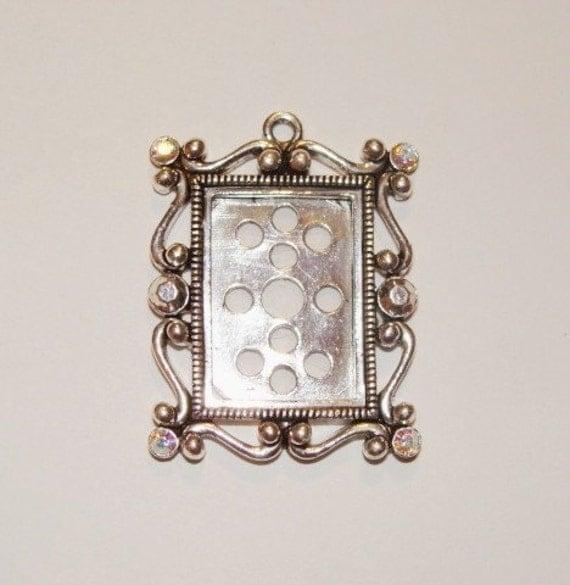 Swarovski Crystal Frame Pendant