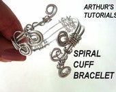 JEWELRY MAKING TUTORIAL Spiral Cuff Bracelet, make it in 2   styles..... ok to sell them. num. 49