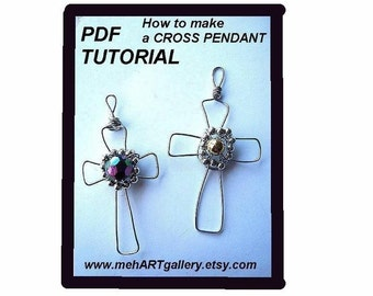 Jewelry supplies   TUTORIAL..Cross Pendant, num. 77 ......Permission to sell your finished pendants