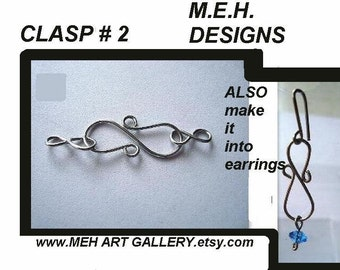 jewelry supplies findings TUTORIAL.... CLASP 2, and earrings..... Make a clasp, and/or earrings, Instant download