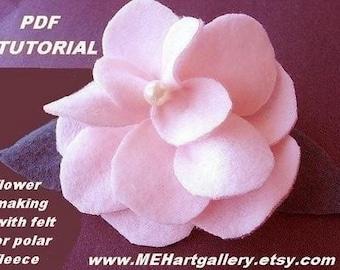 POLAR FLEECE or FELT  Flower tutorial,  num. 7... make them to sell.... more flower making tutorials in my shop