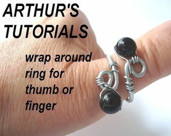 Jewelry supplies tutorial patterns, Ring  num  50 Make a Wrap Around Ring for Thumb or Finger.. adjustable size.... ok to sell them