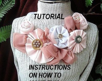 flower  tutorial num. 28, make a BIB NECKLACE with my two patterns,  numbers 26 AND 27. which you will receive with this tutorial,