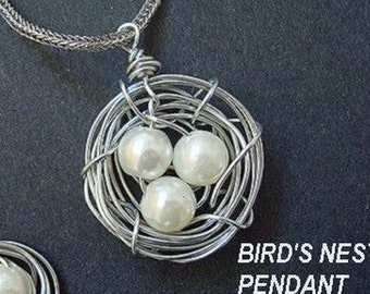 Jewelry supplies  Tutorial pattern BIRD'S NEST PENDANT num 45 and earrings...Arthur's tutorials... make them to sell them,