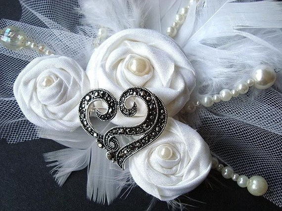 BRIDAL HEADPIECE tutorial  num. 18 - DIY Weddings, Very easy to make flower, no sewing machine required, Instant download
