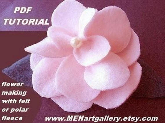 POLAR FLEECE or FELT  Flower tutorial,  num. 7... make them to sell.... more flower making tutorials in my shop