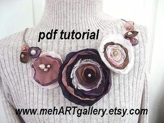 Fabric flower tutorial,  num. 24.. ASHLEY LEIGH FLOWER, make them any size .no sewing machine required, instant download