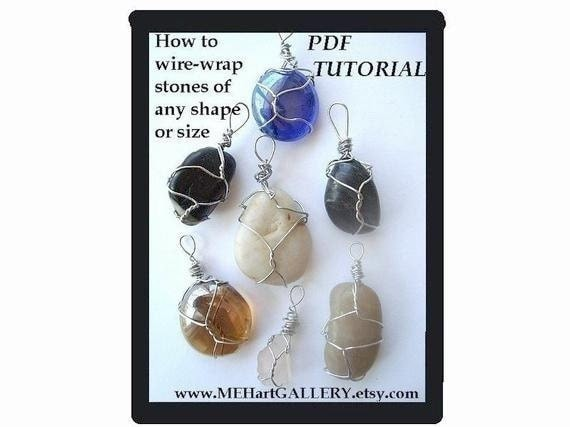 Jewelry supplies TUTORIAL num 44, pendants....  Wire Wrap Irregular Stones, Riverstones, Driftwood, and odd shapes