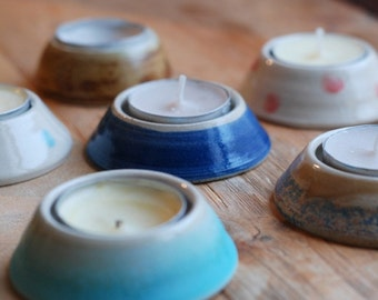 Hand-thrown Ceramic Tea Light Holder