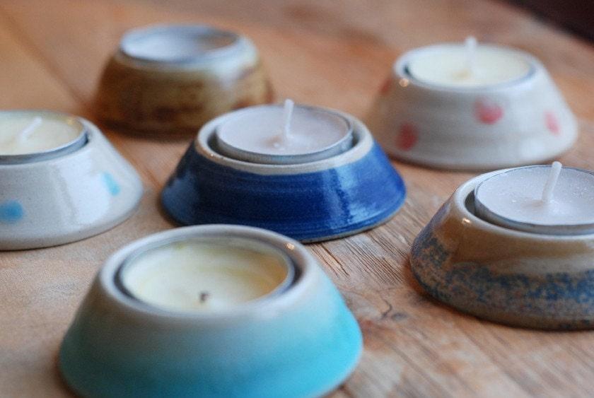 Hand Thrown Ceramic Tea Light Holder