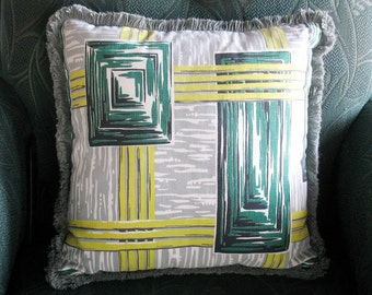 Vintage 50s Wacky Geometry Pillow