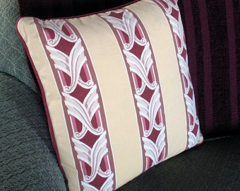 Vintage Deco Stripe decorative Pillow