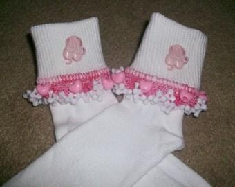 I Love Ballet Beaded Socks