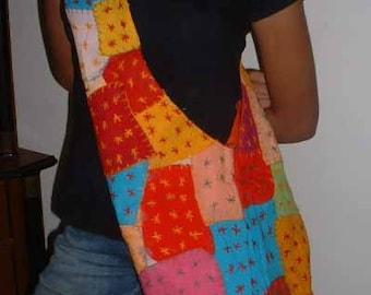 cross stitch shoulder bag