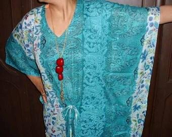 Floral kaftan-Long dress, Kaftan, spa robe, make great Valentines Day, Anniversary or Birthday gifts