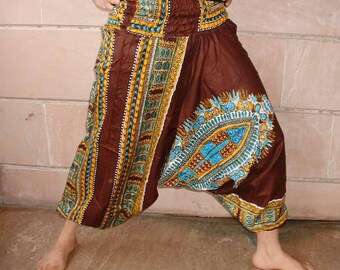 Harem pants.....brown color with floral screen print