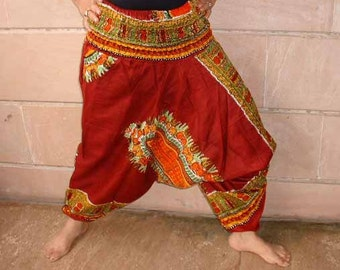 Harem pants.....maroon color with floral screen print