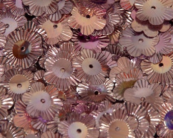 100 sequins METALLIC/Flowers/KBSF415