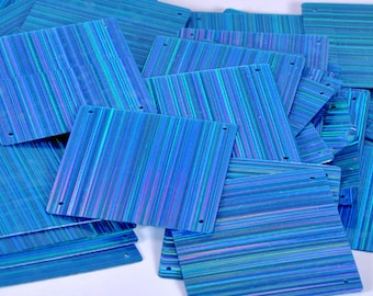15 pcs  sequins.......Blue color square shape/KBSS238