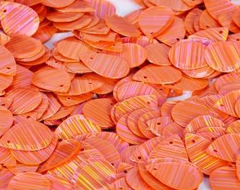 100 pcs  sequins.......Pink color Oval Drop shape/KBOS350