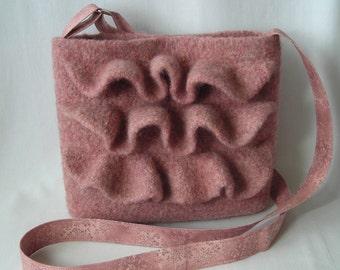 Knitting Pattern PDF - Felted Wool Nashville Hipster Bag - purse shoulder bag handbag permission to resell - fabric lining/strap tutorial