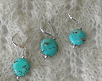crochet stitch markers - knitting stitch markers- removable - turquoise semi precious stones - set of 6