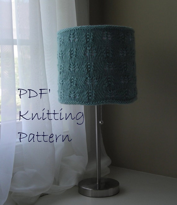 Knitted Lace Lampshade Cover Pattern PDF - Gentle Swirls Lace ...