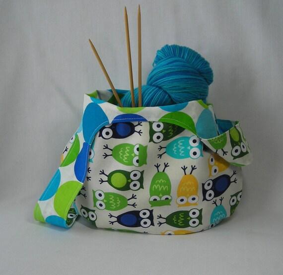 Knitting Project Bag Pattern Free : Sock knitting project bag japanese knot bag crochet shawl