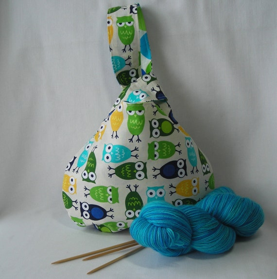 Knitting Project Bags For Sale : Sale sock knitting project bag japanese knot