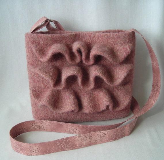Knitting Pattern PDF - Felted Wool Nashville Hipster Bag - purse shoulder bag handbag -  includes tutorial for fabric strap and lining